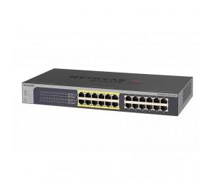 Netgear PoE Switch: (PE) ProSAFE Plus 24-Port Gigabit Rackmount Switch with 12port PoE , simple