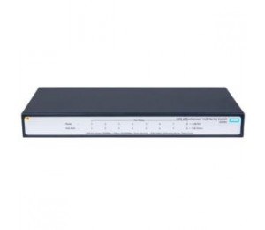 HP 1420 8G POE+ (64W) SWITCH, 8 X GIG POE PORTS, FANLESS, UNMANAGED, LIFE WTY JH330A
