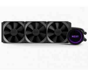 Nzxt Cpu Liquid Cooler: 360Mm Rgb Enclosed Liquid Cooling 3X 120Mm Fan For Intel/ Amd List Socket