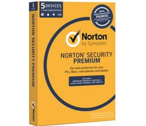 Symantec Norton Security Premium , OEM Software, Single Pack, 5 User, 1 Year License 21353883