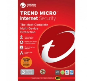 Trend Micro Internet Security 2017 DVD, OEM Single Pack, 3 User, 1 Year License TICIWWM9XSBXEO