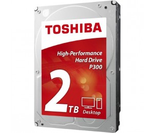 Toshiba P300 2tb Desktop Pc Internal Hard Drive 7200 Rpm Sata 6gb/s 64 Mb Cache 3.5 Inch Hdwd120uzsva