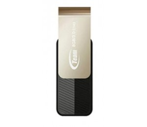 Team Group USB Drive 8GB, C143, USB3.0, Black, Rotating, Capless, 25MB/s, 15g, Lifetime Warranty