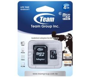 Team Micro SDHC 4GB Class 10 TUSDH4GCL1003