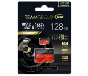 Team Group Xtreem 128gb Micro Sdxc Uhs-ii U3 Read Up To 250mb/ S Write Up To 100mb/ S Tcusdx128guhsii44