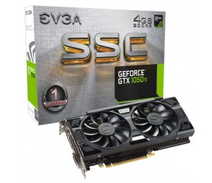 EVGA GeForce GTX 1050 Ti SSC GAMING ACX 3.0 4GB 04G-P4-6255-KR