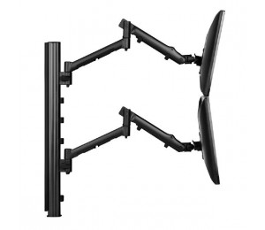 Atdec Systema SDS75B Dual Monitor Mounting Kit - 2x Dynamic Spring Assisted Mount Arms with 750mm