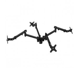 Atdec Systema SQS10B Quad Monitor Mounting Kit - 4x Dynamic Spring Assisted Monitor Arms with 100mm