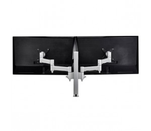 Atdec Atdec Awm Dual Monitor Arm Solution - 460Mm Articulating Arms - 400Mm Post - Bolt - Black