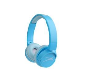 Altec Lansing Kids Friendly 2-In1 Volume Limited Bluetooth Headphones Blue - MZX250-BLUE