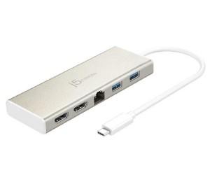 J5Create Jcd381 Usb-C Dual Hdmi 2K/ 4K Mini Dock (Usb-C To 2 X Hdmi Gigabit Ethernet Rj-45 2 X
