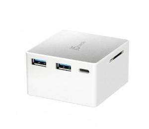 J5Create Jcdp385 Usb-C Powered Mini Docking Stations (Usb-C To 4K Hdmi Sd Card Reader Usb-C Power