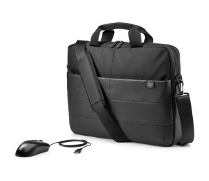 """Hp 39.62 Cm(15.6"""") Classic Briefcase And Mouse 1Fk06Aa"""
