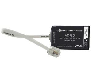 Netcomm Em1690b Xdsl In-line Splitter/filter Australian Certified Used By Nbn Em1690b