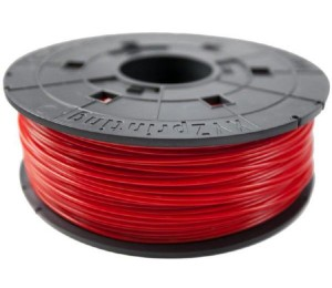 XYZprinting ABS 1.75mm Filament Refill 600G RED - Suitable for Da Vinci Filament cartridge compatible