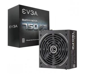 Evga Psu (full-modular), 750w, 80+ Platinum 94%, Supernova P2, 140mm Fan, 4xpcie, Single +12v Rail,