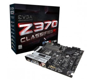 Evga Z370 Classified K, 134-ks-e379-kr, Lga 1151, Intel Z370, Hdmi 2.0, Sata 6gb/s, Usb 3.1,