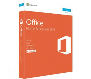 Microsoft Office 2016 Home & Business, Retail Software, 1 User - Medialess V2 T5D-02877