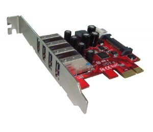 Shintaro PCIE USB3.0 x 4 Port Adapter (LP & FH brackets included) SHPCIEU34P
