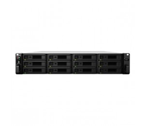 "Synology RackStation RS2418RP+ 12-Bay 3.5"" Diskless 4xGbE NAS (2U Rack) (SMB), Intel Atom 2.1GHz"