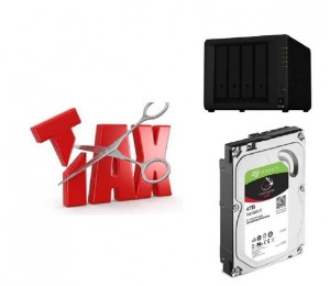 Synology Tax Saver - Ds918+ + 4 X Seagate 4Tb Ironwolf Hard Drives Ds918+ 4 Iwnas 4Tb