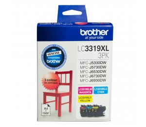 Brother LC3319x L COLOUR VALUE PACK 1x CYAN 1x MAGENTA 1x YELLOW Black to Suit - J5330DW/ J5730DW/