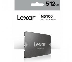 "Lexar NS100 512GB 2.5"" SATA SSD 550/450MB/s Read Shock/ Vibration Resistant 3 Yr Warranty"