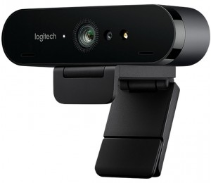Logitech Brio 4K Ultra HD Pro Webcam 960-001105, 4K Webcam with HDR and Windows Hello support