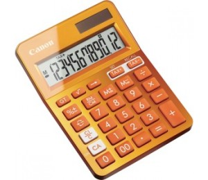 Canon Orange Desktop Tax Calculator Ls123kmor