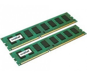 Crucial DDR3 PC12800-16GB Kit (2x8GB) 1600Mhz 512x8 CL11 Desktop Memory CT2KIT102464BD160B