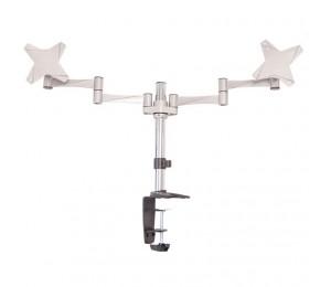 """Astrotek Monitor Stand Desk Mount 43cm Arm for Dual Screens 13""""-27"""" 8kg 15° tilt 180° swivel"""
