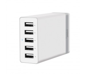 """Mbeat """" Quintary"""" 5 Port 40w Usb Smart Charger-white Mb-chgr-c45w"""