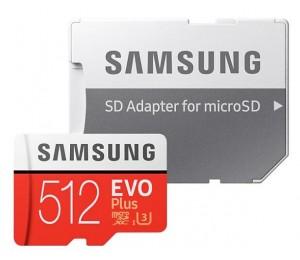 Samsung Evo Plus 512Gb Micro Sdxc With Sd Adapter Mb-Mc512Ga/Apc