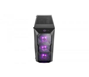Cooler Master Masterbox Td500 Rgb Diamond Cut Design 3x Rgb Led Fans Edge To Edge Acrylic Side