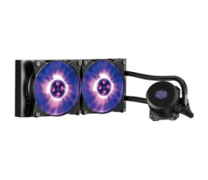 Coolermaster Masterliquid Lite 240 Rgb Cpu Cooler Rgb Wb 2x120mm Rgb Fan 240mm Radiator Mlw-d24m-a20pc-r1