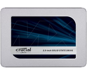 """Crucial MX500 500GB 3D NAND SATA 6Gbps 2.5"""" SSD - Read up to 560MB/s Write up to 510MB/s (includes"""