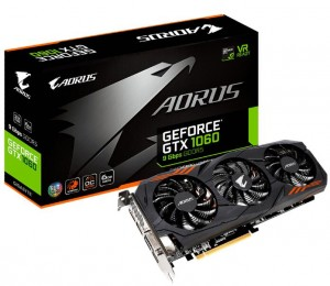 Gigabyte Aorus Nvidia Geforce Gtx 1060 6g Gddr5 9gbps Pci-e 3.0 X 16 Dvi/ Hdmi/ 3*dp Boost: 1860