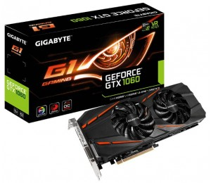 Gigabyte GeForce® GTX1060 G1 Gaming 6G - Pascal-powered graphics card give you superior performance