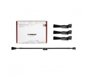 Noctua NA-SEC1 Chromax.Black 30cm 4Pin PWM Power Extension Cables (3 Pack) NA-SEC1-BLACK