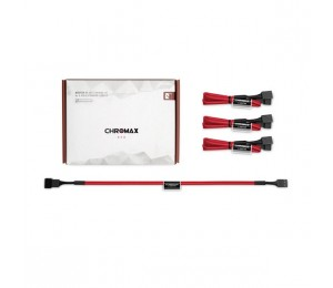Noctua NA-SEC1 Chromax.Red 30cm 4Pin PWM Power Extension Cables (3 Pack) NA-SEC1-RED
