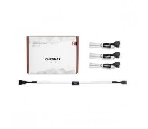 Noctua NA-SEC1 Chromax.White 30cm 4Pin PWM Power Extension Cables (3 Pack) NA-SEC1-WHITE
