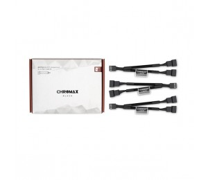Noctua NA-SYC1 Chromax.Black 11cm 4Pin PWM Fan Power Splitter Cables (3 Pack) NA-SYC1-BLACK
