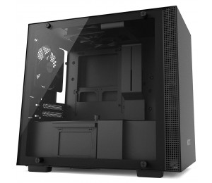 Nzxt H200 - Mini-Itx Pc Gaming Case - Tempered Glass Panel - All-Steel Construction - Enhanced