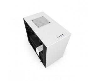 Nzxt H200I Mitx Mini Tower No Ps 0 0 (1) Bay Usb 3.1 Matte White No Led Black In Nzt-Ca-H200W-Wb