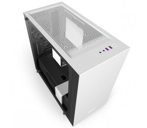 NZXT Matte White H400 Mini Tower Chassis NZT-CA-H400B-W1