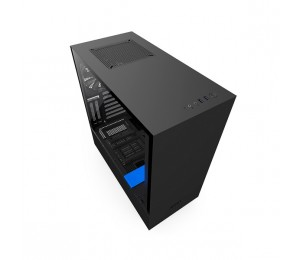 NZXT Black & Blue H500i Mid Tower Chassis (Smart Device) NZT-CA-H500W-BL