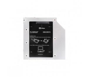 Orico Aluminium L95SS Laptop CD-ROM Bay Drive Bracket For 2.5 SATA Drives ORC-L95SS-V1
