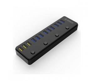 Orico Black P12-U3 12 Port USB3 Powered Hub With BC1.2 Charging ORC-P12-U3-BK