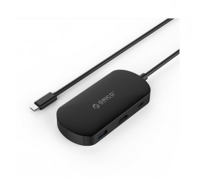 Orico Black TCH1 USB3 Type-C To HDMI Display Adapter & 2 Port Hub ORC-TCH1-BK