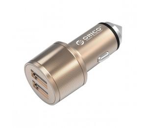 Orico Gold Aluminium UCI-2U 15.5w Cigarette Lighter To Dual USB Charge Ports ORC-UCI-2U-GD